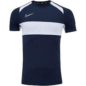 Camiseta Dry Academy Top SS Azul/Branco Nike - Masculina
