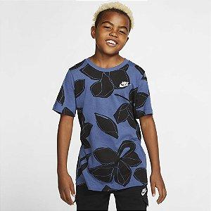 Camiseta Nike Sportswear Infantil - Azul