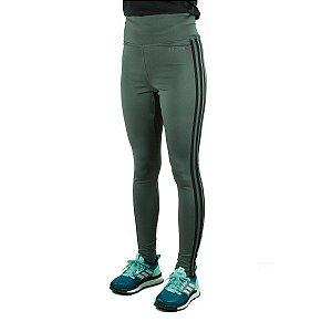 Calça Legging Adidas D2M HR L 3S Feminina - Verde