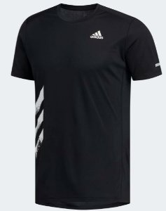 Camiseta Run It 3-Stripes Adidas - Masculino