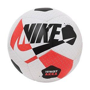 Bola Nike Street Akka de Futsal Branco/Preto/Vermelho