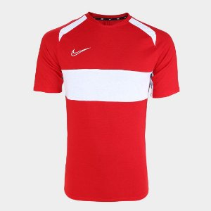 Camisa Dry Academy Top Vermelho/Branco Nike - Masculina