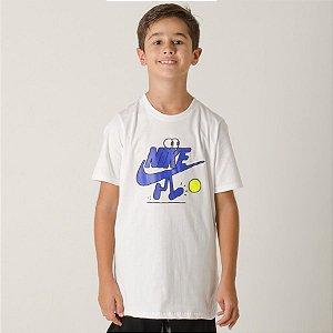Camiseta Nike Futura Dude Infantil - Branca