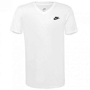 Camiseta Nike Sportswear Gola V Masculina - Branco