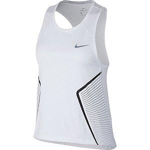 Regata Nike Dry Miler Gx Feminina - Branco e Preto