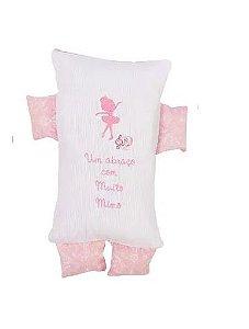 Almofada Formas Rosa Bordada Minasrey - Infantil