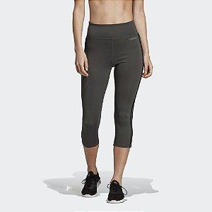Calça Legging Adidas D2M 3S Feminina - Verde