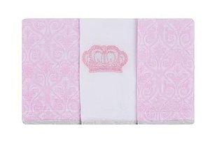 Babete Rei Rosa 3 Peças  Minasrey - Infantil