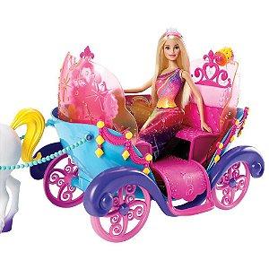Carruagem com Boneca Barbie Princesa Mattel