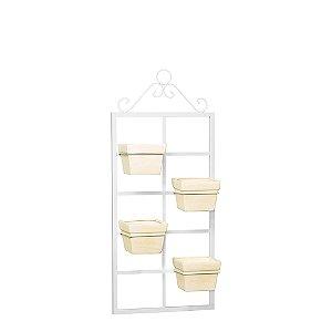 Porta Vertical 4 Vasos Quadrado - Monte Real
