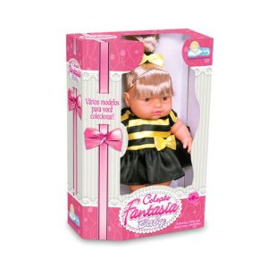 Boneca Fantasia Baby Abelinha 968 - Anjo
