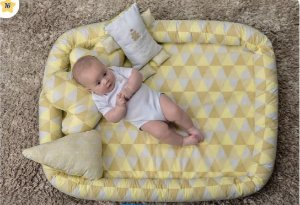 Colchonete Bege Bebê Kids Muito Mimo Minasrey- Infantil