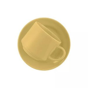 Xícara Oxford Chá 200ml Com Pires Amarelo Ae045014