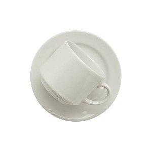 Xícara Oxford Chá 200ml Com Pires Branco Ae045002
