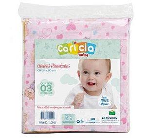 Cueiro Carícia 3 unidades Minasrey- Infantil