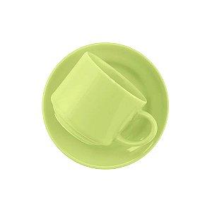Xícara Oxford Chá 200ml Com Pires Verde Ae045010