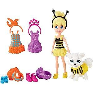 Polly Pocket Bolsinha com Cachorro Mattel