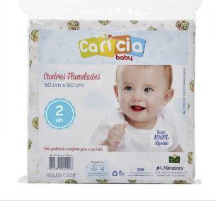 Cueiro Carícia Estampado 3 unidades Minasrey- Infantil