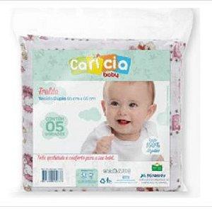 Fralda Carícia Estampada 5 unidades Minasrey- Infantil