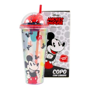 Copo Zona Criativa com Canudo - Mickey Mouse