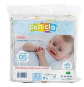 Fralda Carícia 5 Unidades Minasrey- Infantil