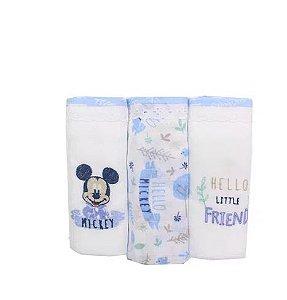 Fralda Disney  Mickey 3 Unidades Minasrey- Infantil