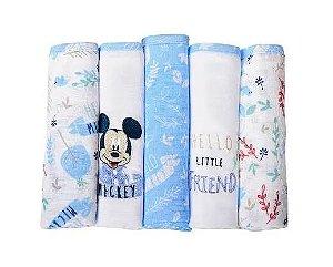 Fralda Disney Mickey Com 5 Unidades Minasrey- Infantil