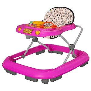 Andador Infantil Musical Para Bebê Rosa Tutti Baby