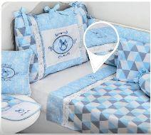 Jogo De Berço Estampado Muito Mimo Azul Minasrey- Infantil