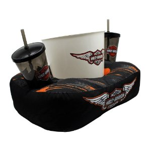 Almofada Zona Criativa Porta Pipoca e Copos - Harley Davidson