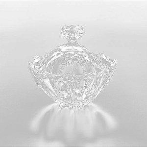 Bomboniere De Cristal Com Tampa 13cm Rojemac