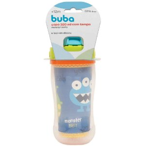 Copo Com Tampa 320ml Monster Party Buba - Infantil