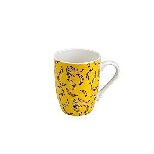 Caneca de Porcelana Bananas 330ML Rojemac