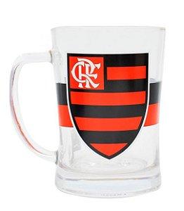 Caneca Mileno Vidro 650ml Flamengo