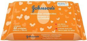 Lenços Umedecidos Limpeza E Suavidade 44 Unidades Johnson's
