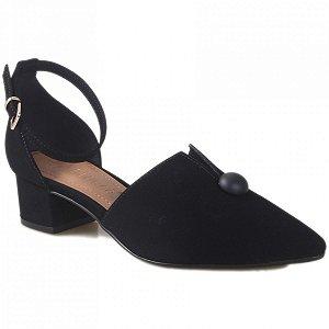 Sapato Bebecê Nobuck - Preto