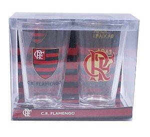 Jogo 2 Copos De Vidro 475ml - Flamengo