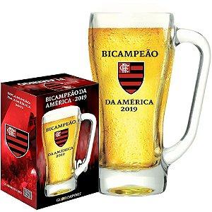 Caneca Personalizado do Flamengo Campeão Vidro 500ml - Glob Import