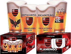 Conjunto Copos de Vidro Flamengo 350ml - Glob Import