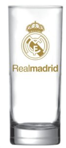 Copo Scotland Real Madrid  Logo Ouro 330ml - Glob Import