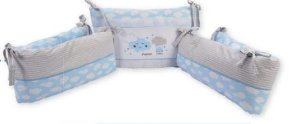 Protetor De Berço Alvinha Azul Minasrey- Infantil