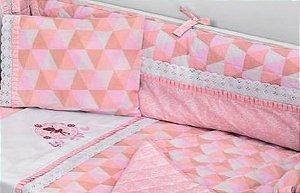 Protetor De Berço Rosa Muito Mimo Minasrey- Infantil