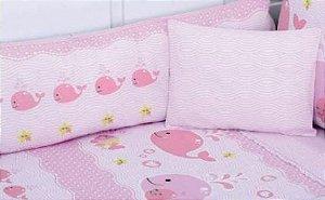 Protetor De Berço Filhotes Rosa Minasrey- Infantil