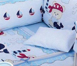 Protetor De Berço Filhotes Azul Minasrey- Infantil