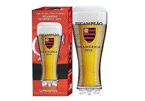 Copo Flamengo Campeão Libertadores Chuteira Vidro 370ml - Glob Import