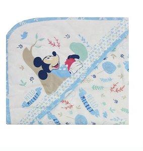 Toalha De Banho Azul Disney Minasrey- Infantil