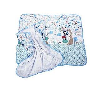Toalha Felpa Azul Disney Minasrey- Infantil
