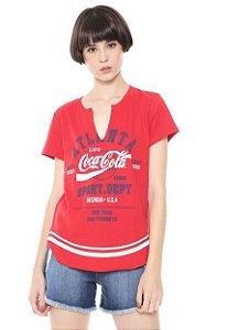 Camiseta Coca-Cola Jeans Aroma Feminina