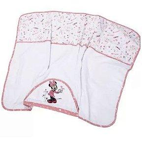 Toalha Capuz Disney Bordada Rosa Minasrey- Infantil