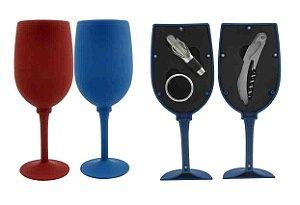 Kit Abridor de Vinho Imporiente Inox - Taça